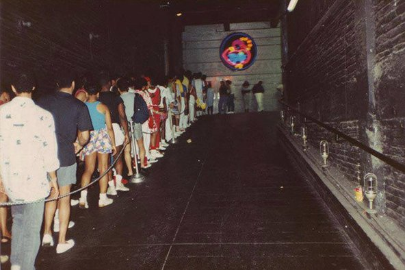 L'entrée du Paradise Garage à New York