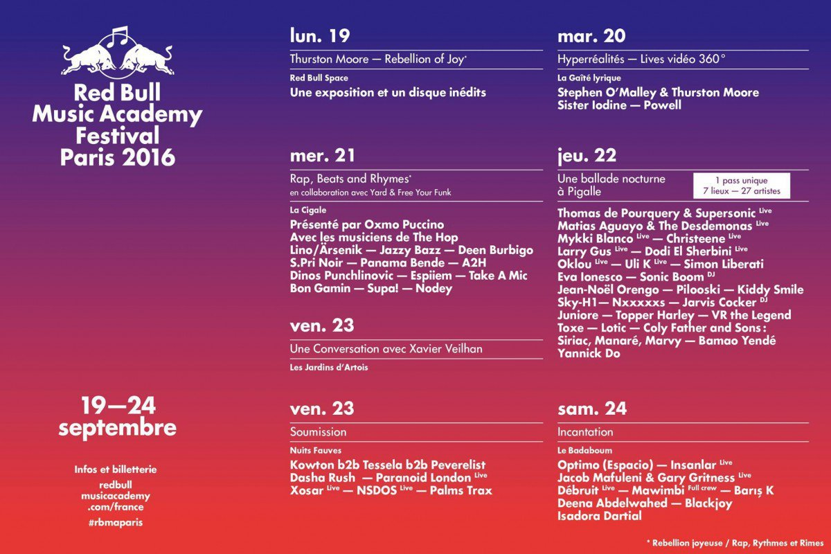 red bull music academy Festival Paris