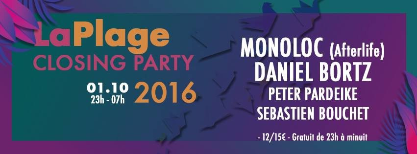 LaPlage du Glazart - Closing party