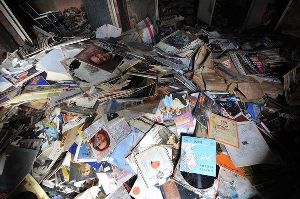 Collection de vinyles découverte dans un magasin abandonné à Manchester