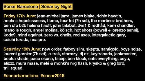Timetable Sónar