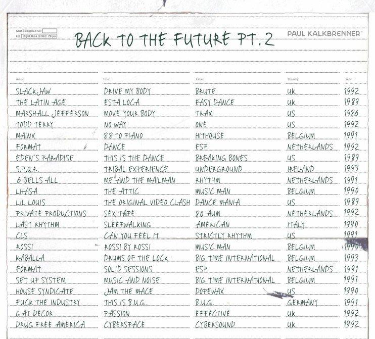Tracklist Paul Kalkbrenner