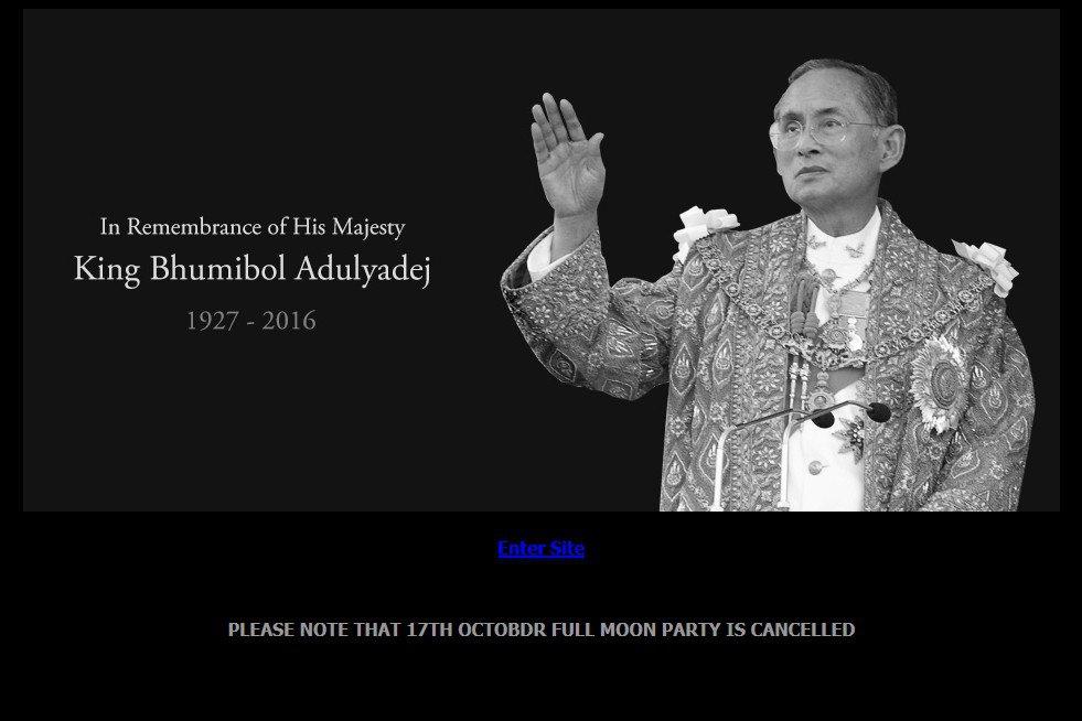 deuil roi thaïlande