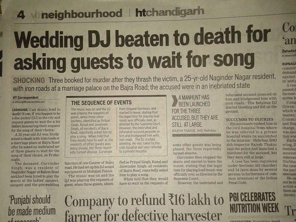 DJ killed