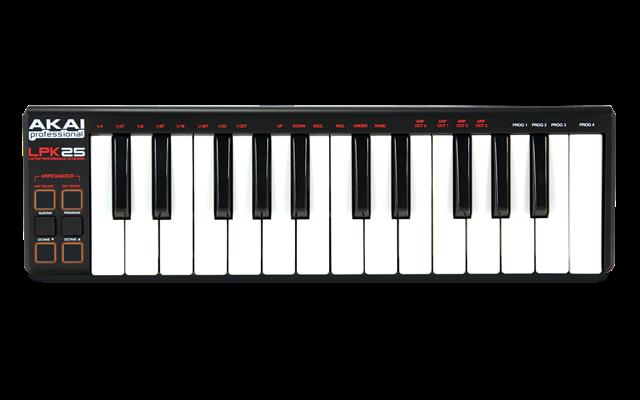 Le clavier MIDI USB LPK25 de AKAI