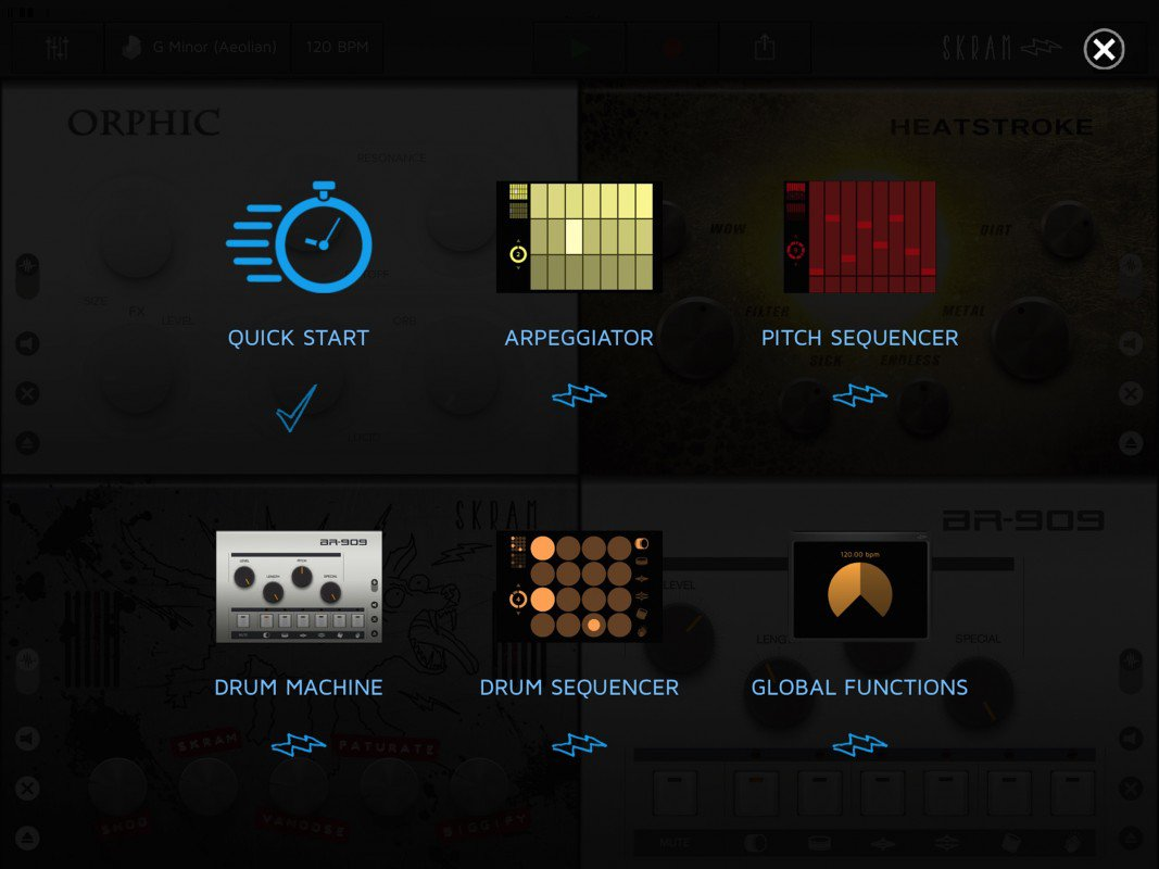 Skram application musicale